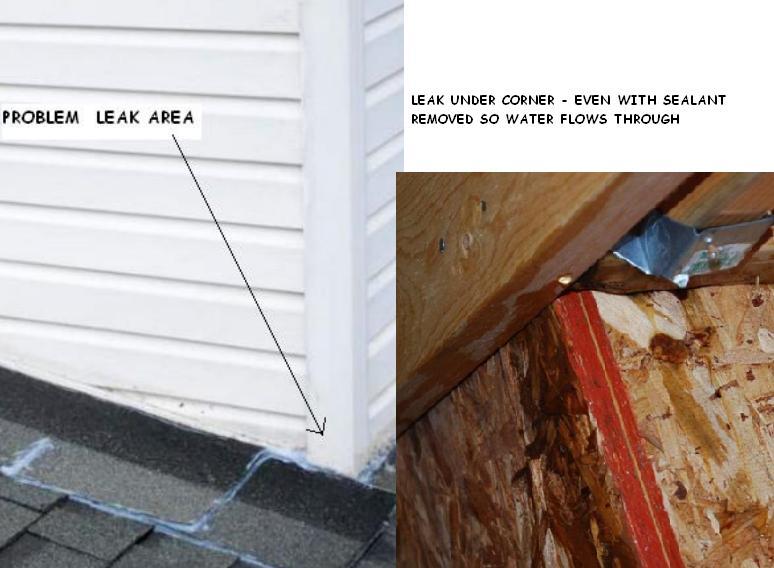 Corner Post Leak Roofing Siding Diy Home Improvement