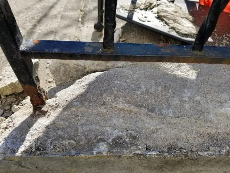 Fixing spalling/chipping handrail ledge-ledge-20170622_081621.jpg
