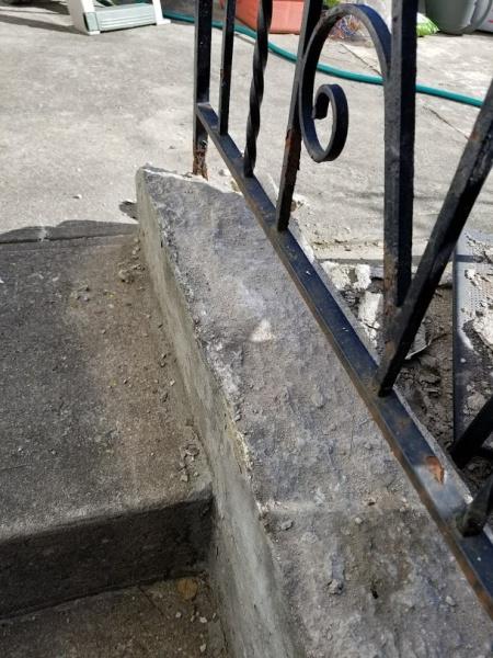 Fixing spalling/chipping handrail ledge-ledge-20170622_081644.jpg