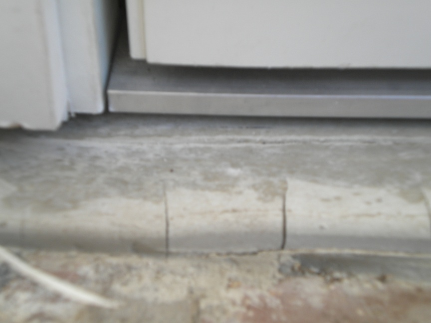 Delightful Pouring A Concrete Door Sill Left Sill Threshold Gap ...