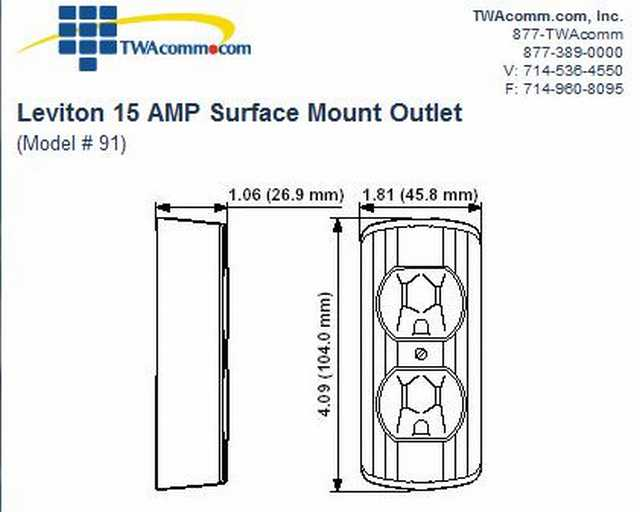 Can you place an electrical outlet inside pole wrap.-leviton-91-receptacle.jpg