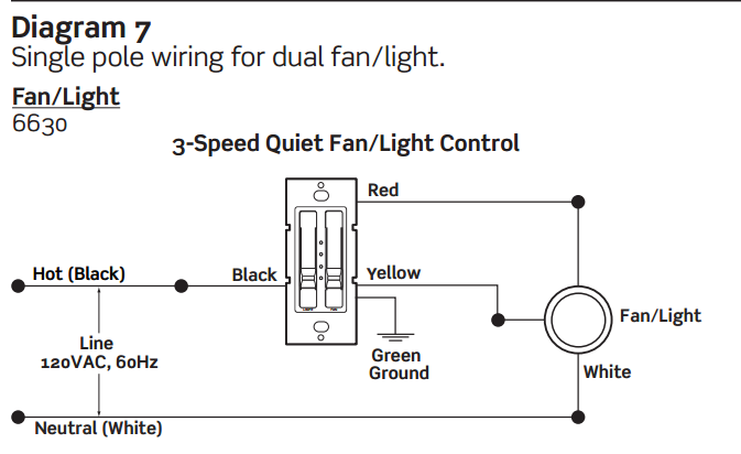 Ceiling Fan Amp Light Switch Problem Electrical Diy