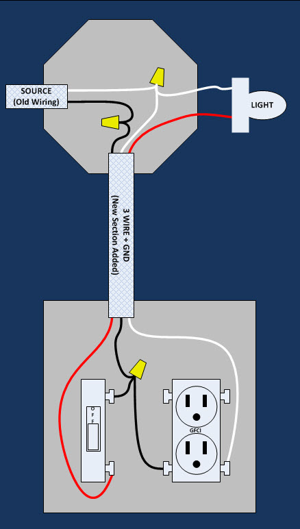77621d1383718326 adding 3 prong gfi old wiring where none existed before light switch outlet adding 3 prong gfi to old wiring where none existed before wiring gfci and light switch diagram at reclaimingppi.co