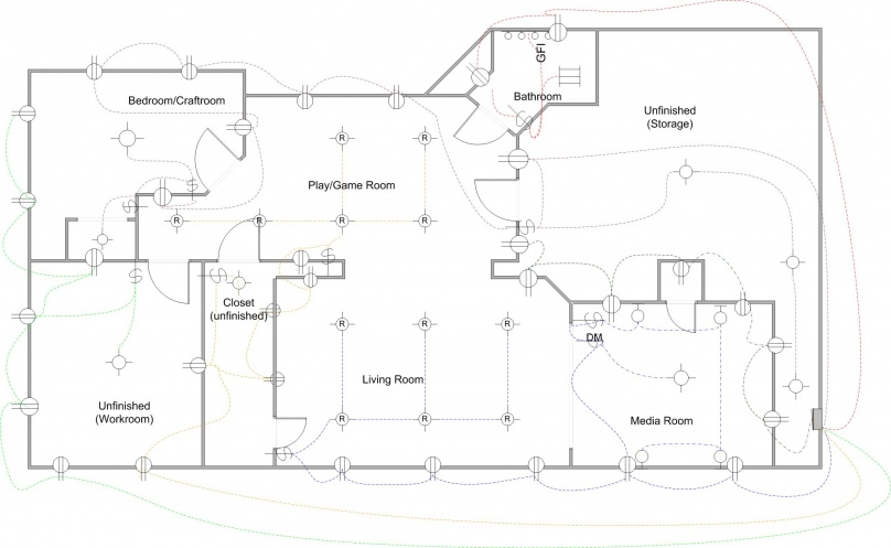 wiring for new basement design help electrical diy chatroom rh diychatroom com Basement Wiring Plan Basement Wiring Plan