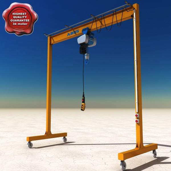 Steel frame gantry crane chain hoist 2 ton-light_gantry_crane_00.jpg