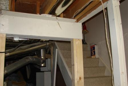 support post at base of basement stairs-march-30-2011-dogs-019.jpg