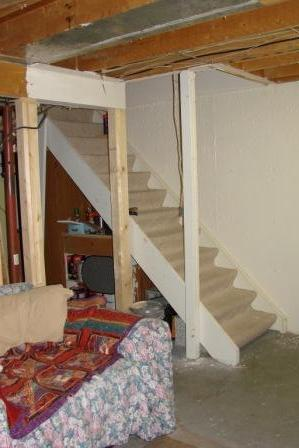 support post at base of basement stairs-march-30-2011-dogs-020.jpg