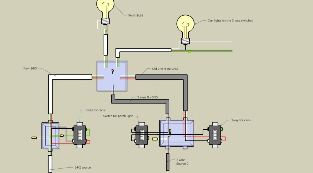 Help  Three Way Switch Conundrum   Diagram