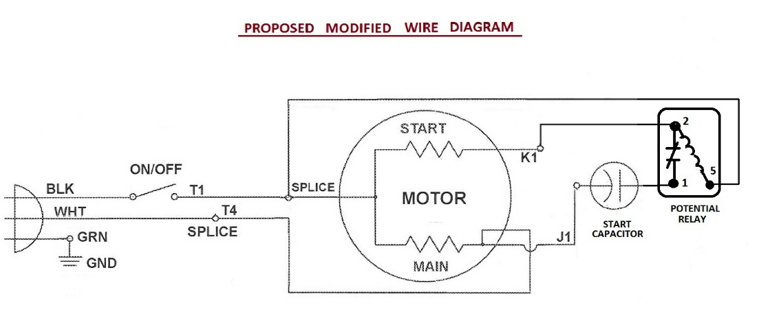 Single Phase Capacitor Start Motor Wiring Diagram from www.diychatroom.com