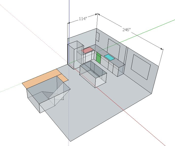 Remove kitchen walls below Fink truss attic, load bearing or not?-more-traditional.jpg