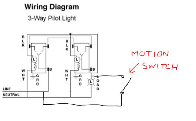 How To Add Pilot Light Capability 3 Way Switches With A Motion Sensor