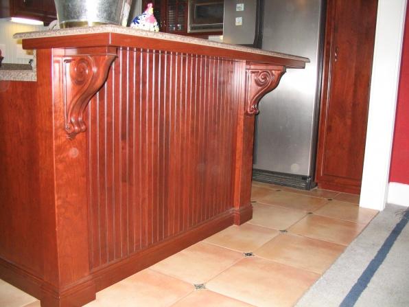 1st post here 2 tier kitchen island kitchen bath - Kitchen island with post ...