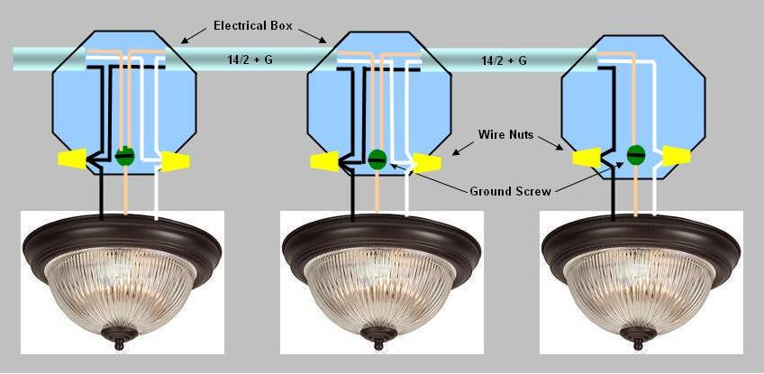 wire 4 outdoor lights with one switch electrical diy chatroom rh diychatroom com wiring ceiling lights in series-you tube Multiple Light Switch Wiring Diagrams