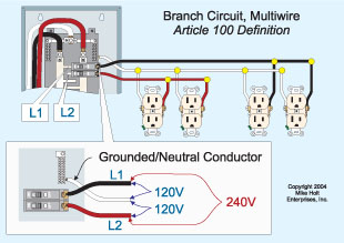 two amp circuits on wire electrical diy chatroom home two 20amp circuits on 12 3 wire electrical diy chatroom home improvement forum