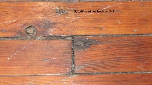 setting large nails wood floor