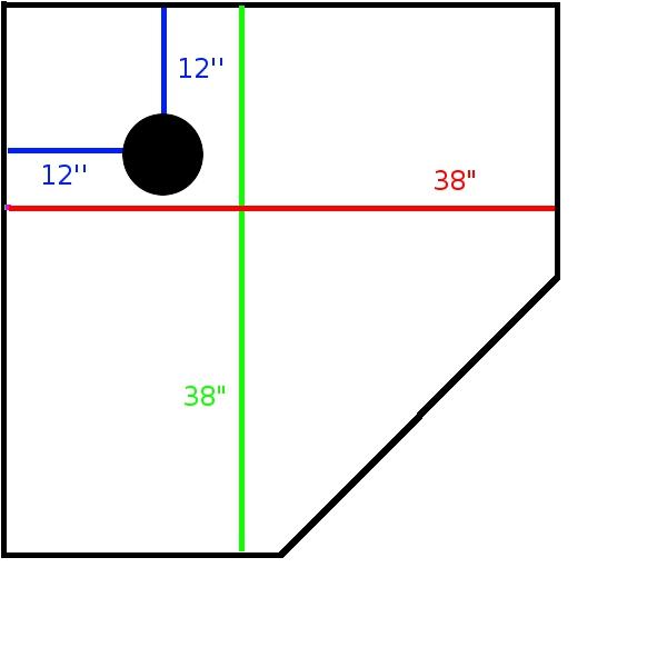 """Kerdi Shower Kit (48"""" x 48"""" Tray) For Desired 38"""" x 38"""" Neo Angle Shower-neoangleshowermeasurments.jpg"""