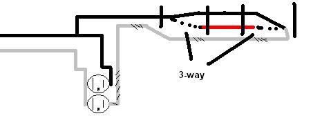 wiring diagram 3 way switch split receptacle wiring split receptacle 3 way switch electrical diy chatroom on wiring diagram 3 way switch split