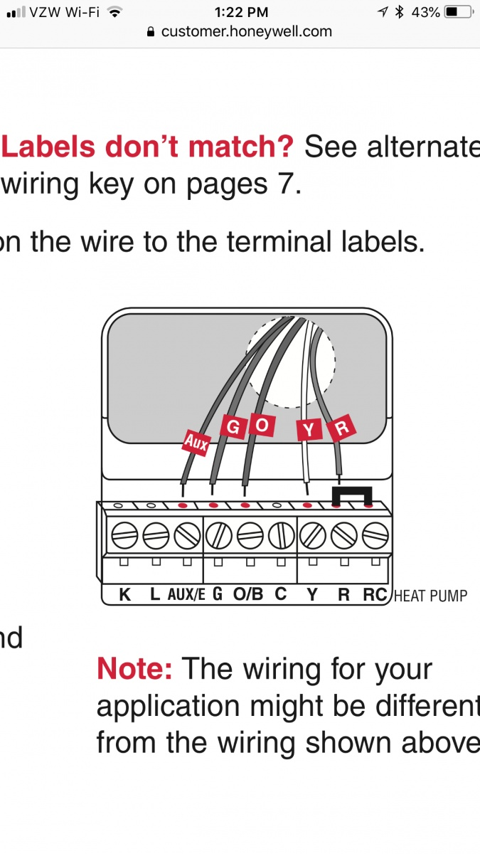 Heat Pump Wiring - Hvac