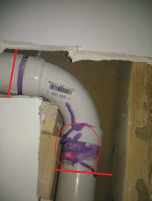 replace a pvc joint in tight place-new-wall.jpg