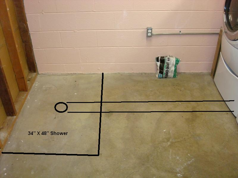 Basement Bathroom Install installing shower in basement - plumbing - diy home improvement