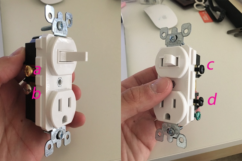 Replace A Wall Light Switch With A Switch  Outlet Combo - Electrical