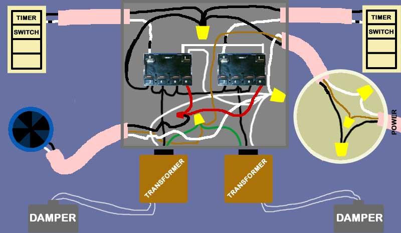 Inline Bath Fan For 2 Bathrooms, Powered Dampers Newestrelays
