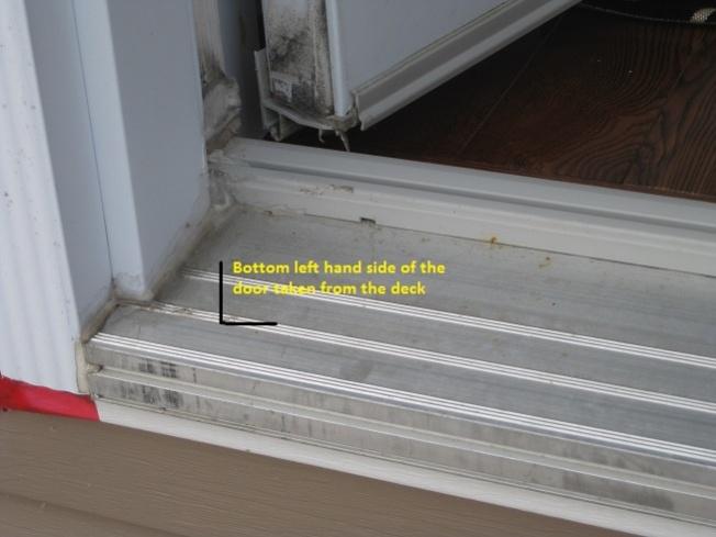 Water Leaking In Through Door On Main Floor Down To