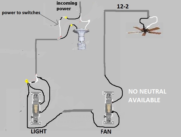 Wiring a bathroom fan