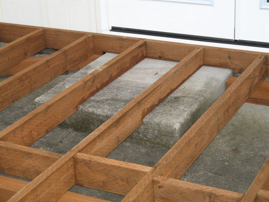 3240d1209827717 Deck Header Over Concrete Steps Other Deck Questions Notched Ledger  (550×413)   Deck Project   Pinterest   Building A Deck, Concrete ...
