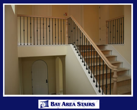 Delicieux Installing New Stair Baluster Oak_railing_with_iron_balusters_fs