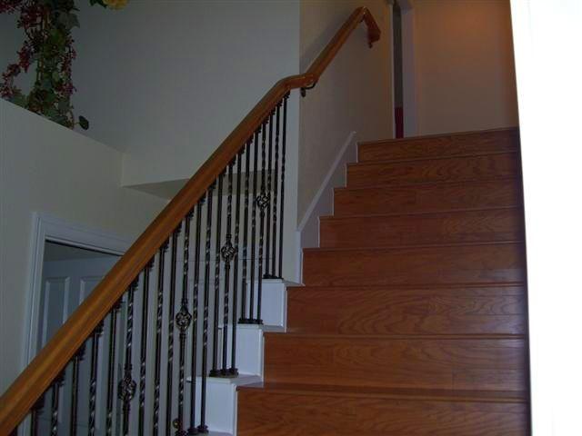 Basement Stair Balusters Offset Handrail