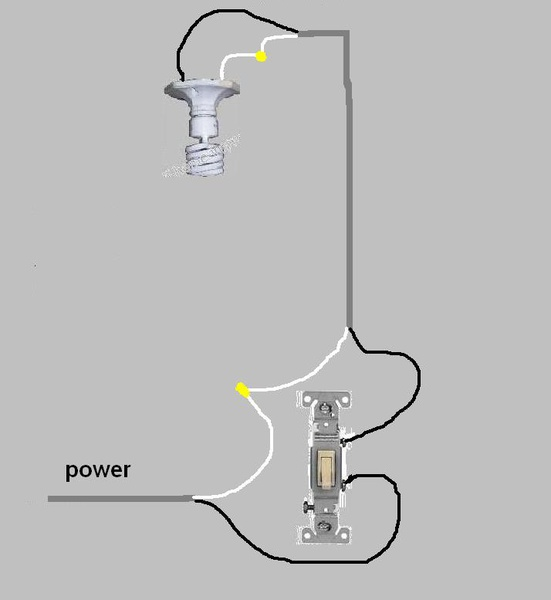 how to put in a light and switch  - electrical