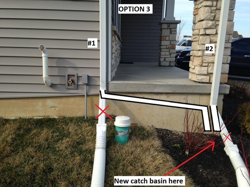 Downspout Into Lower Roof Gutter Option3 Jpg