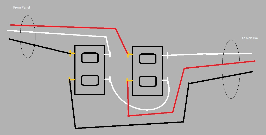 wiring outlets in a mwbc - electrical