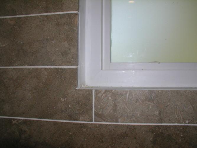 Bathroom window sill waterproof