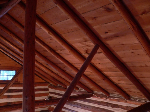 Log Cabin Cathedral Ceiling Building Amp Construction
