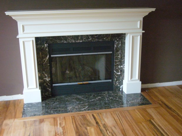 I want to paint the black fireplace surround