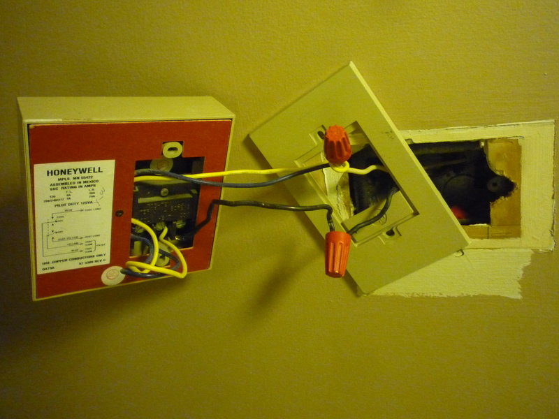 replacing a 120v fan coil thermostat how to wire? hvac diy Closet Light Wiring Diagram