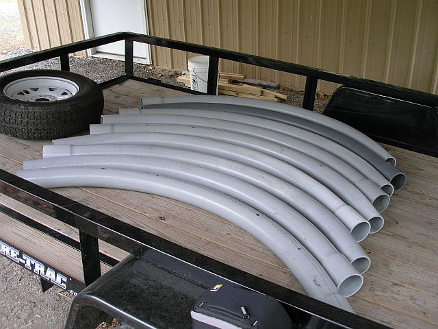 Pulling large gauge wires through conduit bodies and conduit around garage door.-p5160024.jpg