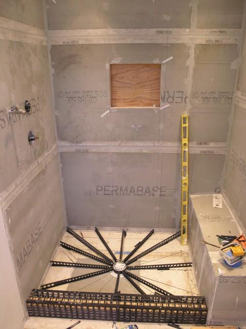 Shower pan liner in tampa shower rebuild building construction diy chatroom home - Shower construction ...