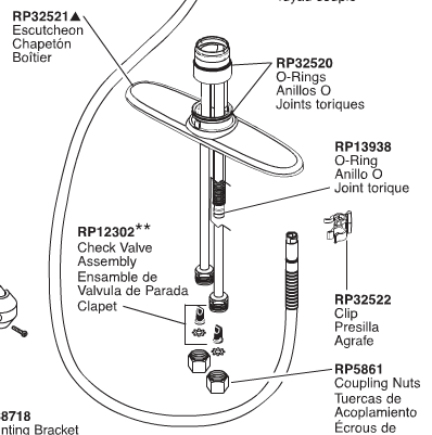 Faucet Leak below kitchen sink and from the Delta faucet: Replace or Repair?-partsdiagram.png