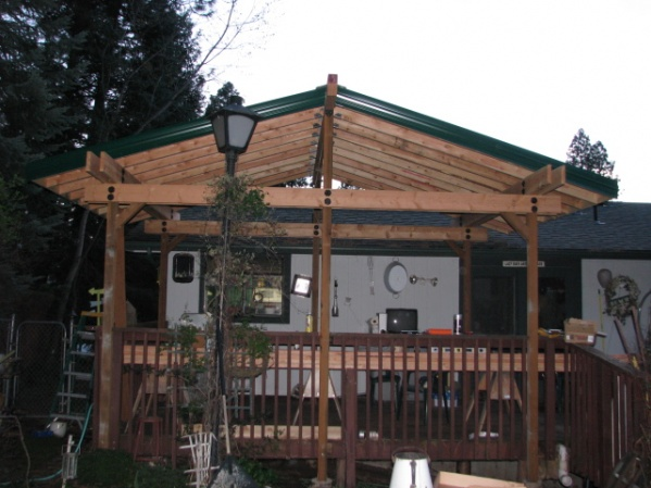 Span Of Roof Without Using A Center Beam Patio Cover 020