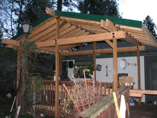 Delightful Span Of Roof Without Using A Center Beam Patio Cover 021