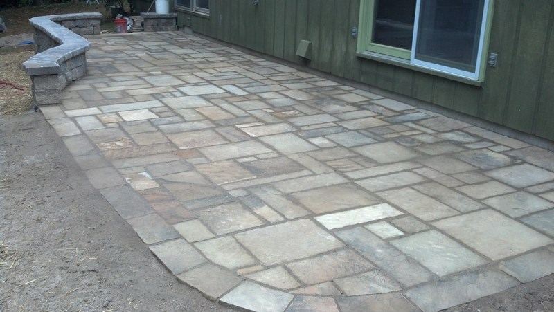 using a plate compactor for stone patio - concrete, stone
