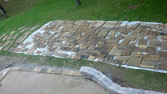 Using a Plate Compactor for stone patio-patio00010.jpg