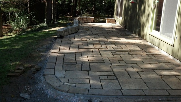 Using a Plate Compactor for stone patio-patio00013.jpg