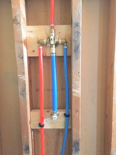 Pex On Shower Tub Rough In Plumbing Diy Home