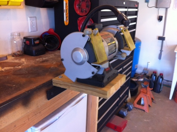 Temporary Mount For My Bench Grinder Tools Diy