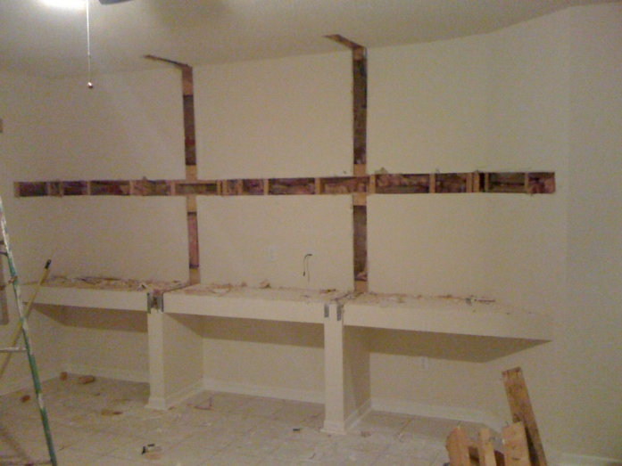 how to mount shelves on drywall 1