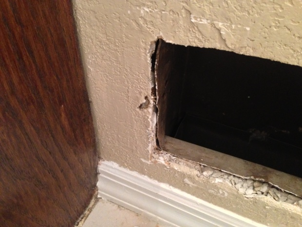 Vent Covers Falling Out Of Wall